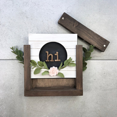 Hi Wreath | DIY Insert Kit | Size A