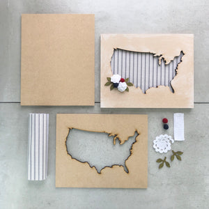 Floral USA | DIY Project Kit | Size B