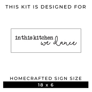 In This Kitchen We Dance | Word Kit