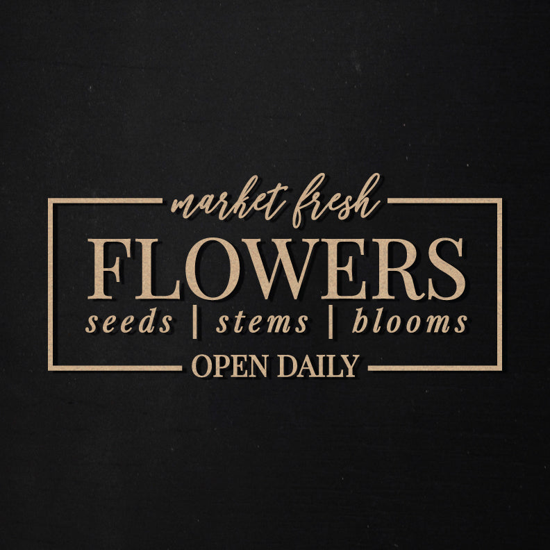 Market Fresh Flowers | Word Kit