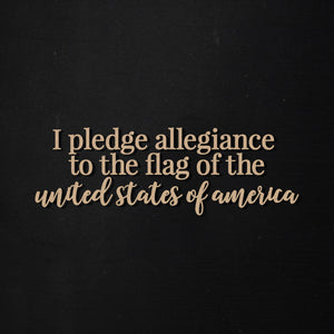 Pledge of Allegiance | Word Kit