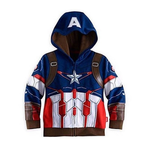 CHILD JACKET BLUE CAPTAIN AMERICA