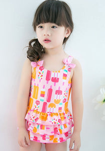 BAJU RENANG ICE CREAM - PINK ORANGE