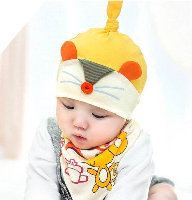 BIB + HAT MOUSE YELLOW