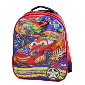 SCHOOL BAG CARS A - RED