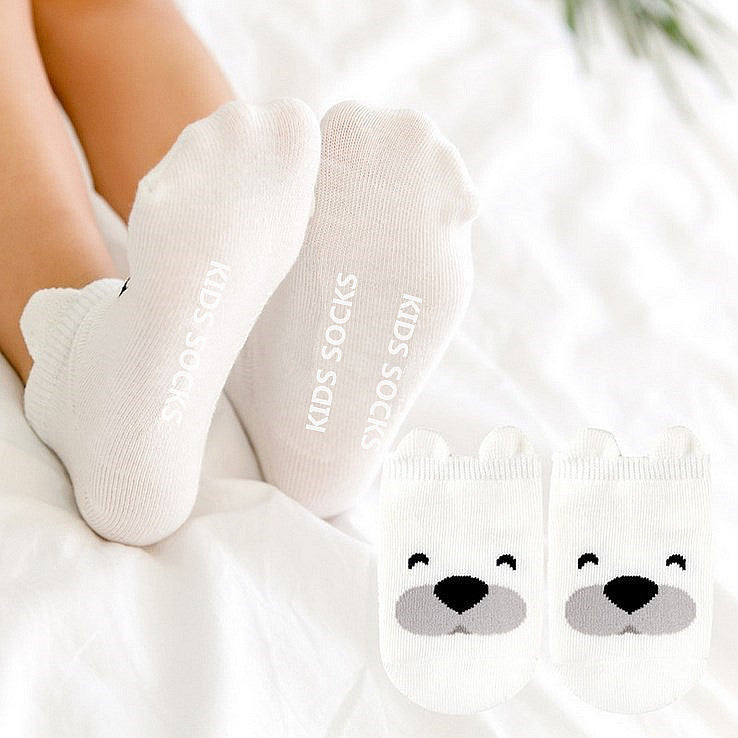 kaos kaki white bear