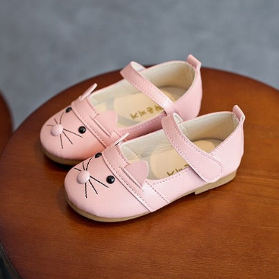 FLAT SHOES CAT PINK