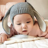 Topi Big Ears Rabbit Grey