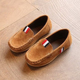 CASUAL SLIP SHOES BROWN