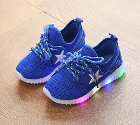 KIDS SHOES LED STAR
