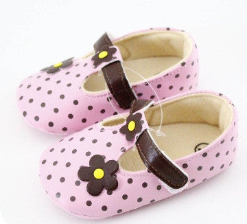PREWALKER DOTS FLOWER PINK