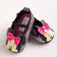 PREWALKER MINNIE GLLITER BLACK