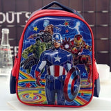 SCHOOL BAG CAPTAIN AMERICA RED