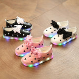 SPRING BOW LED SHOES