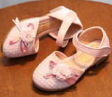 SQUARE FLOWER SHOES PINK