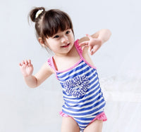 SWIMSUIT LOVE SHAPE BLUE