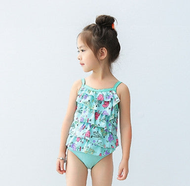 U ( SWIMSUIT MULTILAYER GREEN