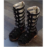 HIGH BOOTS RIBBON BLACK