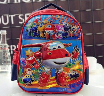 SCHOOL BAG SUPER WINGS RED