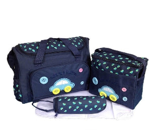 TAS IBU 4 SET MOTIF MOBIL BIRU TUA ( Bag 4 Set Of Dark Blue Car )