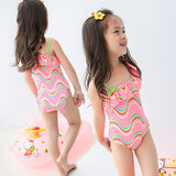 SWIMSUIT WAFE PINK