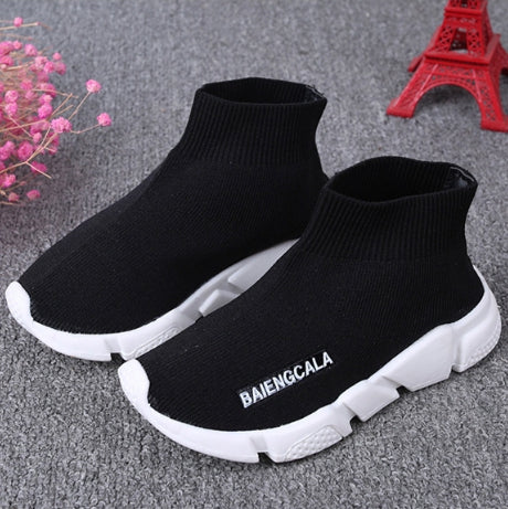 KNITTED SHOES - BLACK