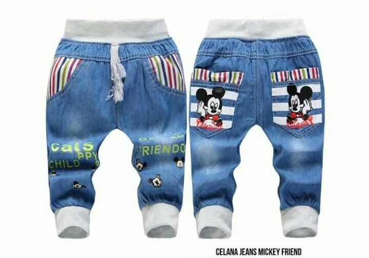 Celana jeans mickey friend