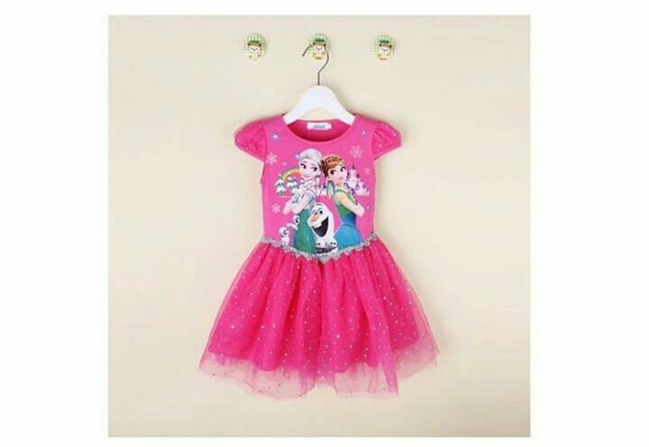 Cute Dress Frozen Pink Tua