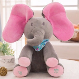 PEEK A BOO ELEPHANT DOLL GREY