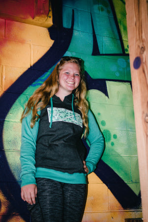 S.P. Ladies Flag Hoodie (Anchors Mint)