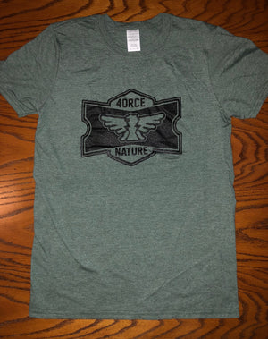4.N. Fight Ticket Shield T-Shirt (Heather Military Green)