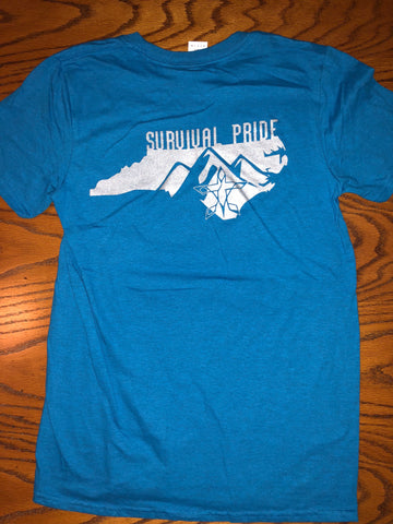 S.P. Home Sweet Home Mountains T-Shirt (Heathered Sapphire Blue Unisex)