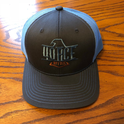 4orce Shield Trucker Hat (Charcoal/Sky Blue)