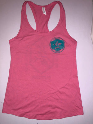 Live Thrive Survive Ladies Tank Top (Pink)