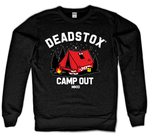 CAMP OUT CREWNECK (BLACK)