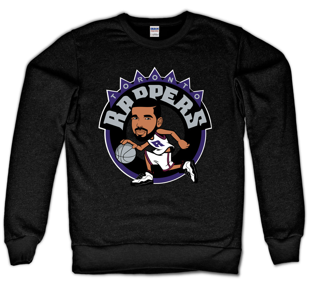 TORONTO RAPPERS CREWNECK (BLACK)