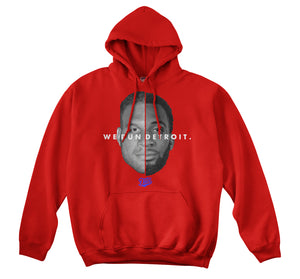 WE RUN DETROIT HOODIE (RED)