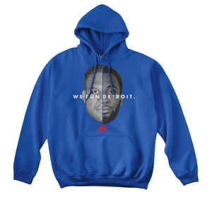 WE RUN DETROIT HOODIE (ROYAL)