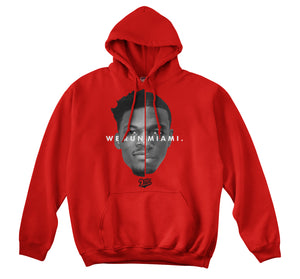 WE RUN MIAMI HOODIE (RED)