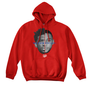 WE RUN PHILLY HOODIE (RED)