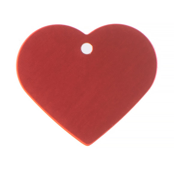 PoochMate Personalized Name Tag - Red Heart Shape