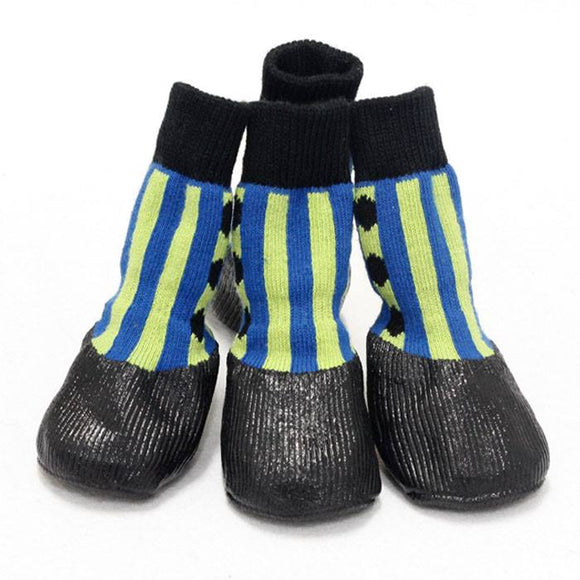 PoochMate Waterproof Socks - Green & Blue
