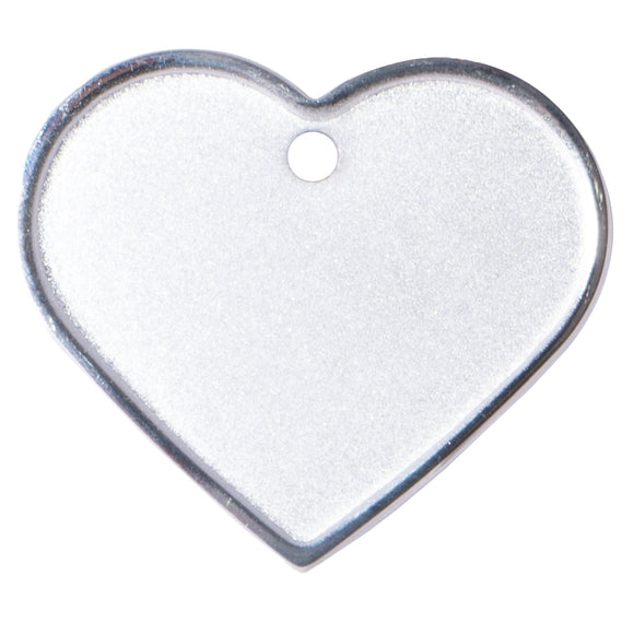 PoochMate Personalized Name Tag - Silver Heart Shape