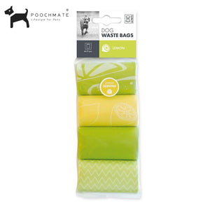 M-Pets Poop Bags Lemon Scented - Set of 4