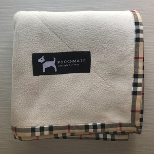 PoochMate Fleece Blanket -Beige & Furberry