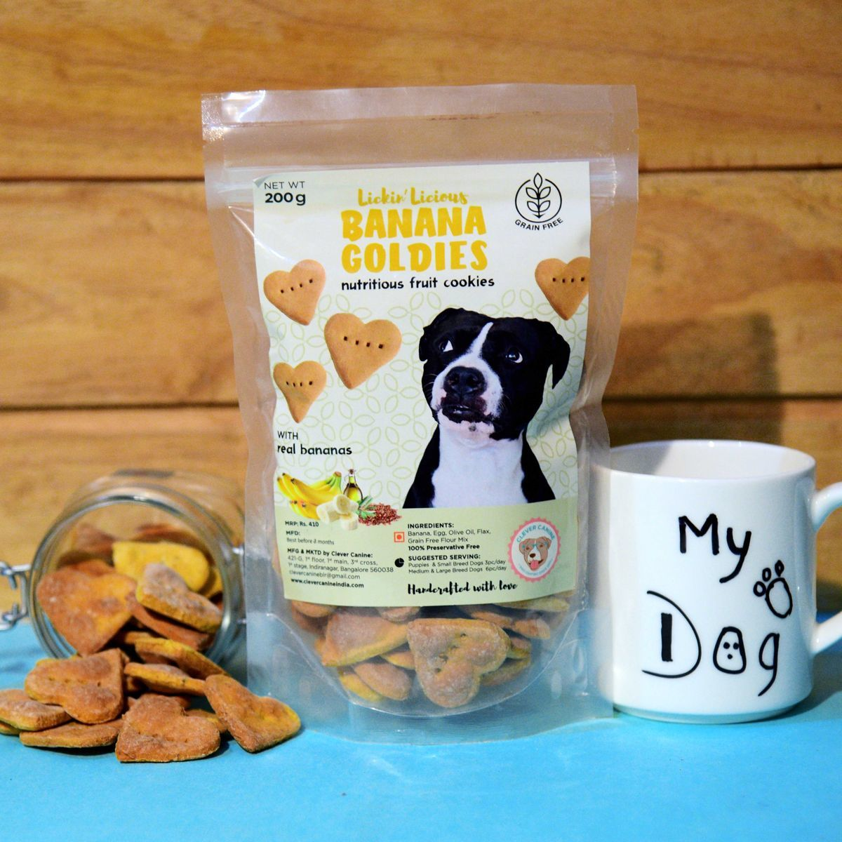 Clever Canine Banana Goldies Grain Free