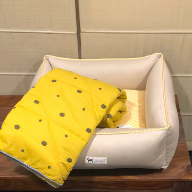 PoochMate Canary Yellow Bedding Set