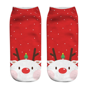 PoochMate Christmas Socks for Humans - Red