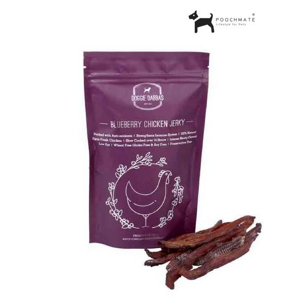 Doggie Dabbas Chicken Blueberry Jerky
