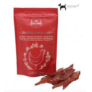 Doggie Dabbas Chicken Cranberry Jerky